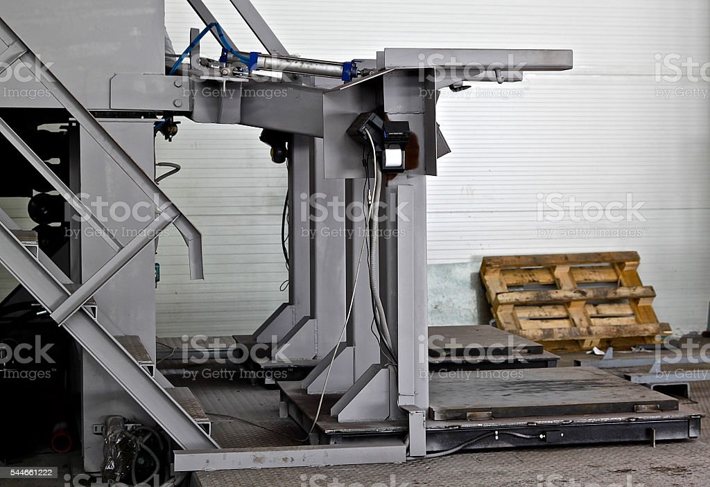 device for dispensing, packing and weighing stock photo