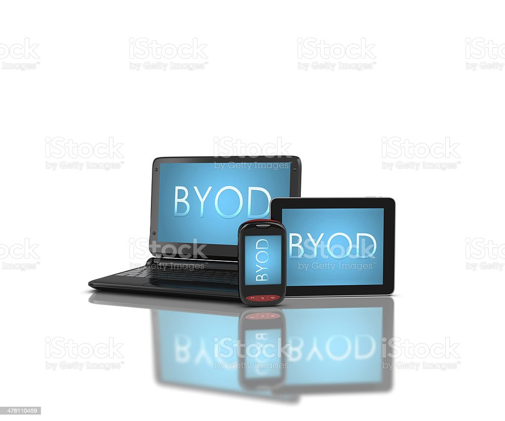 Devices with 'BYOD' stock photo