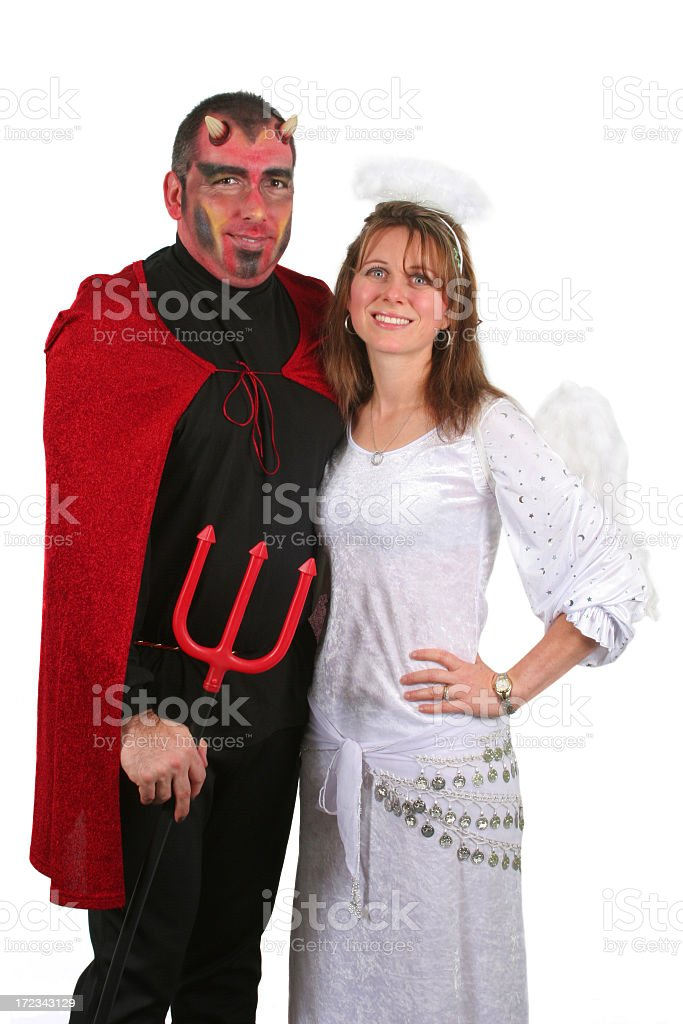 Devil and Angel royalty-free stock photo