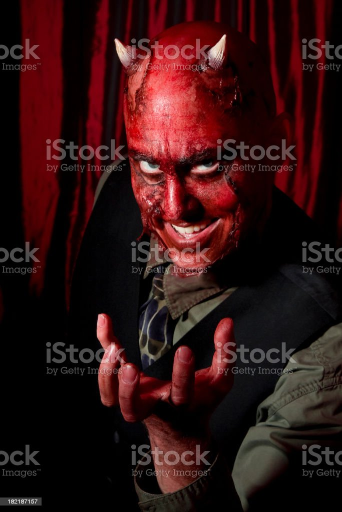 Devil Businessman stock photo
