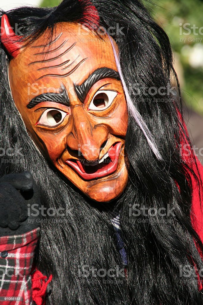 devil carnival mask royalty-free stock photo