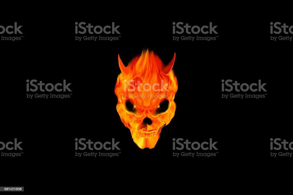 devil head stock photo
