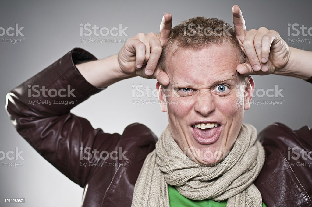 Devil Horns Gesture royalty-free stock photo