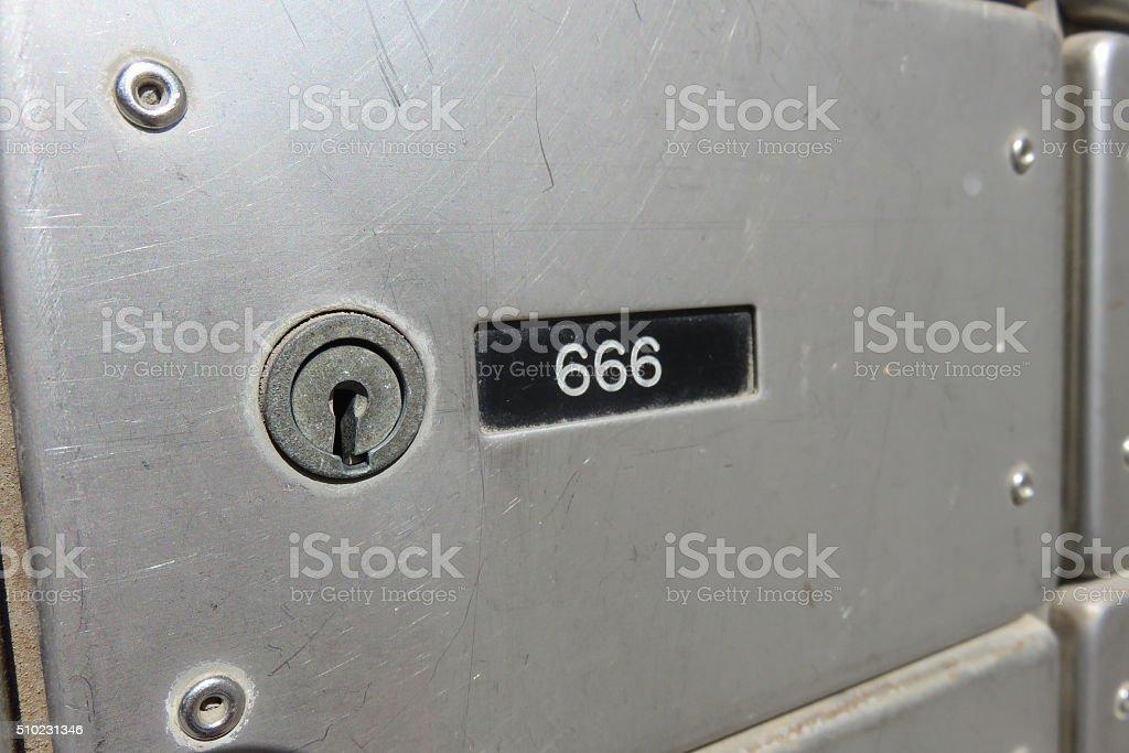 Devil safety Deposit Box stock photo