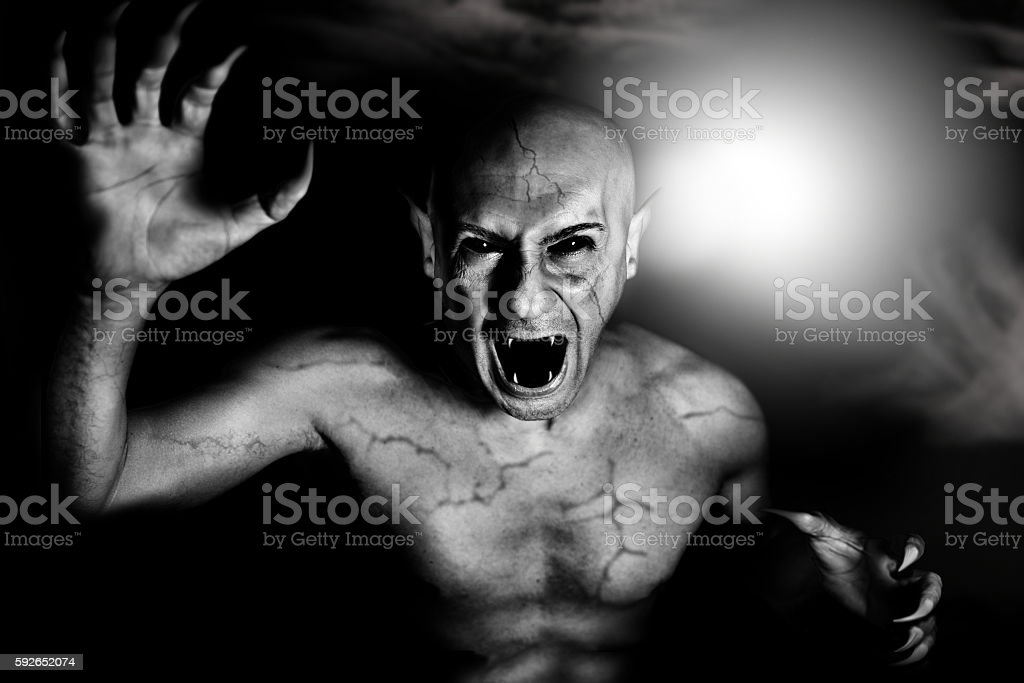 devil vampire on Halloween stock photo