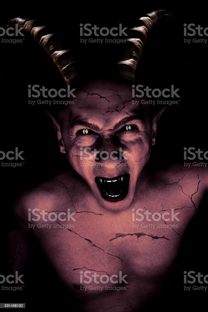 devil vampire portrait stock photo