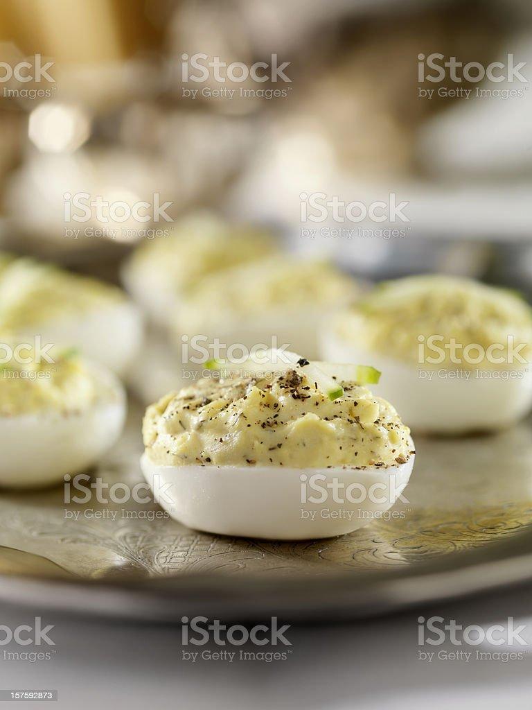 Deviled Eggs stock photo