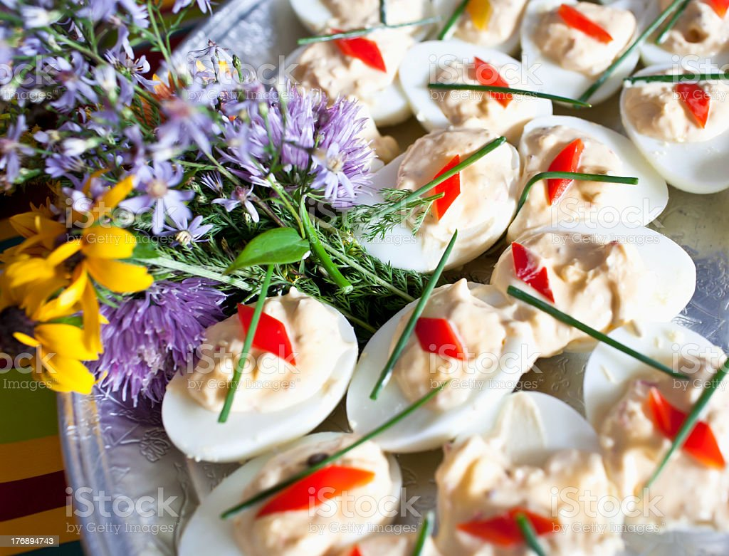 Deviled Eggs stock photo