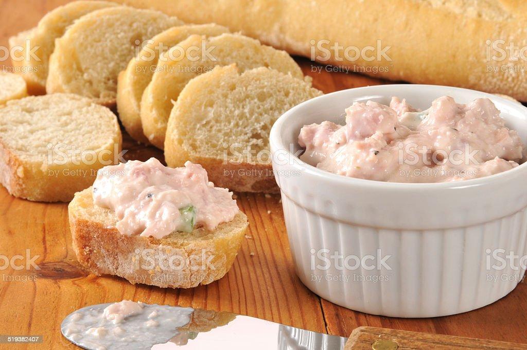 Deviled ham appetizers stock photo