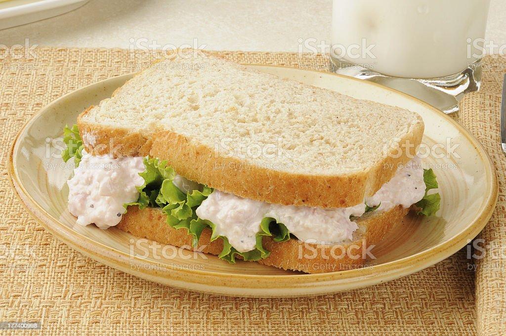 Deviled ham sandwich stock photo
