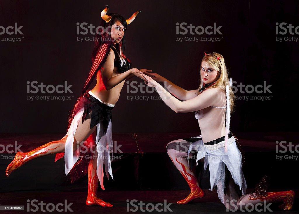 Devilish Angels royalty-free stock photo