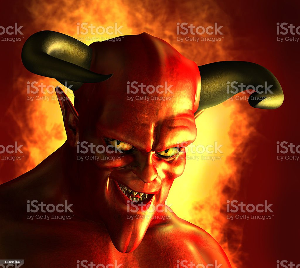 Devilish Grin stock photo