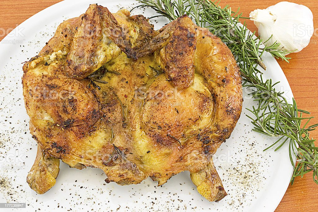 devilled chicken with herbs royalty-free stock photo