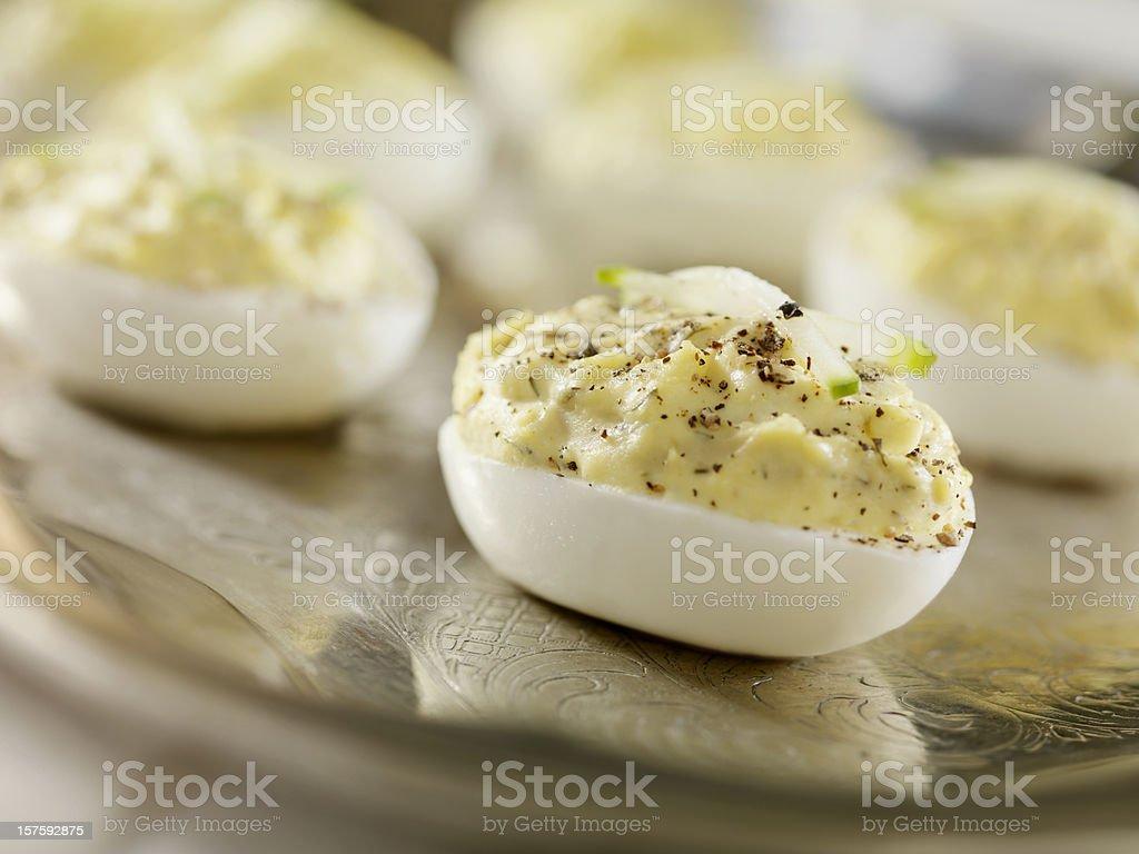 Devilled Eggs stock photo