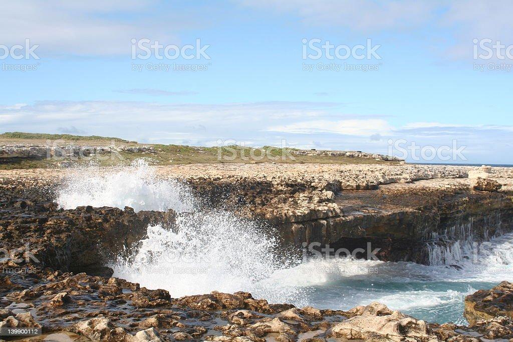 Devils Bridge in Antigua stock photo