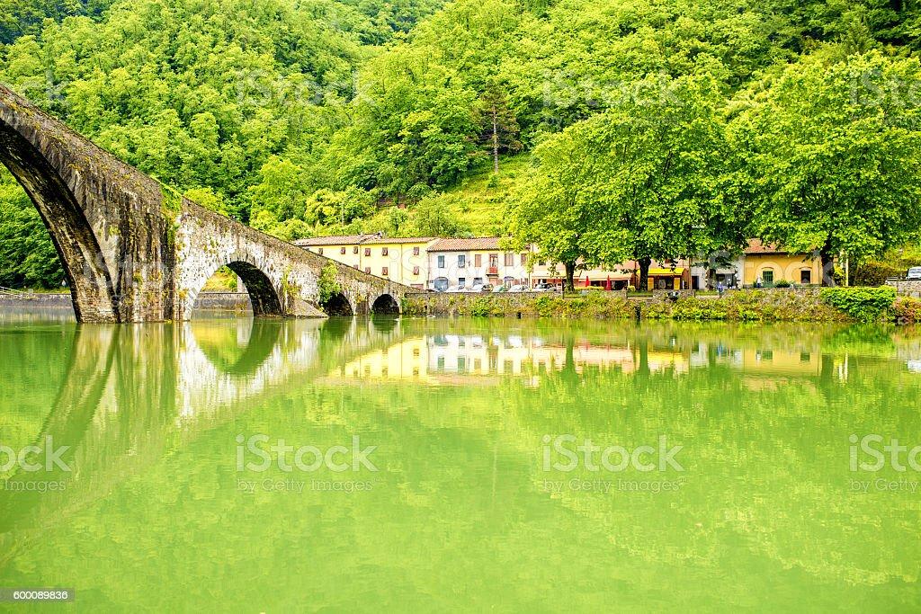 Devil's Bridge in Italy stock photo