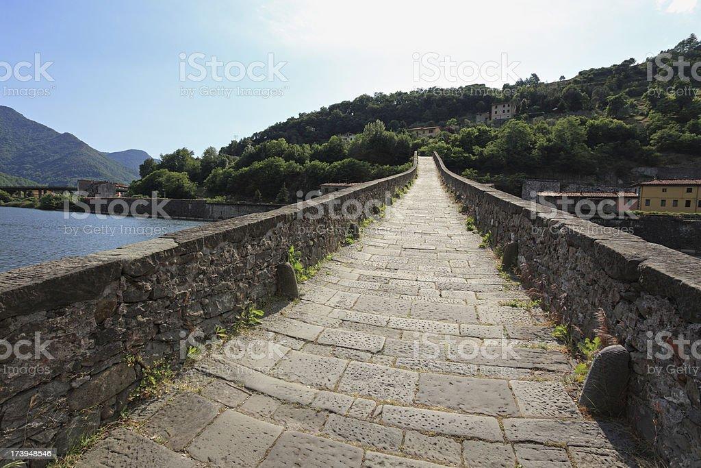 Devil's Bridge in Tuscany stock photo