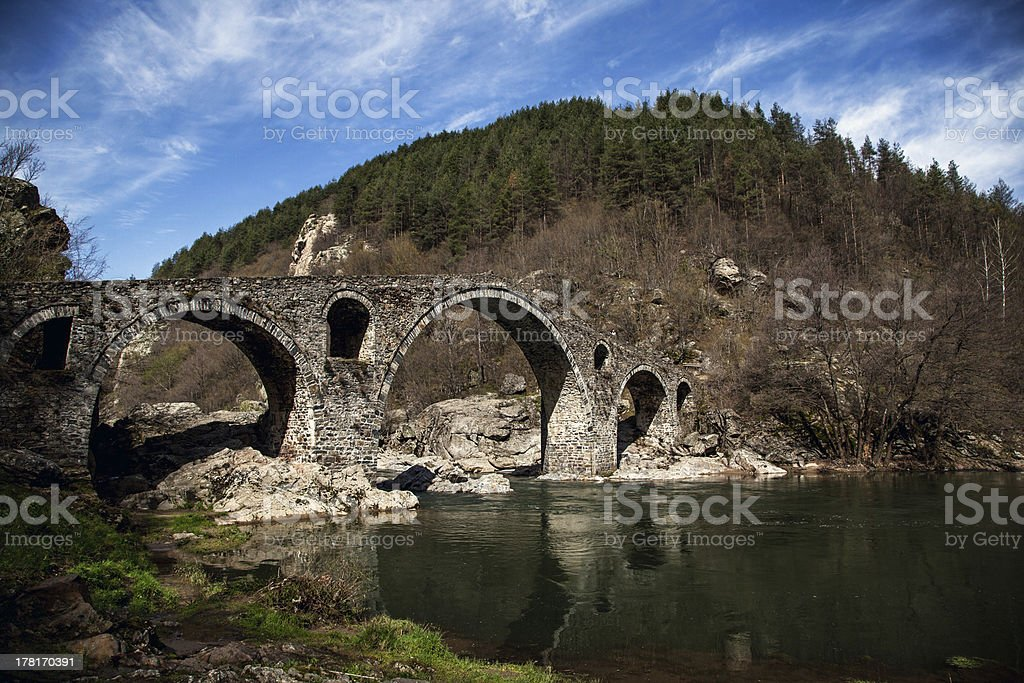 Devil's Bridge on Spring, Ardino , Bulgaria royalty-free stock photo