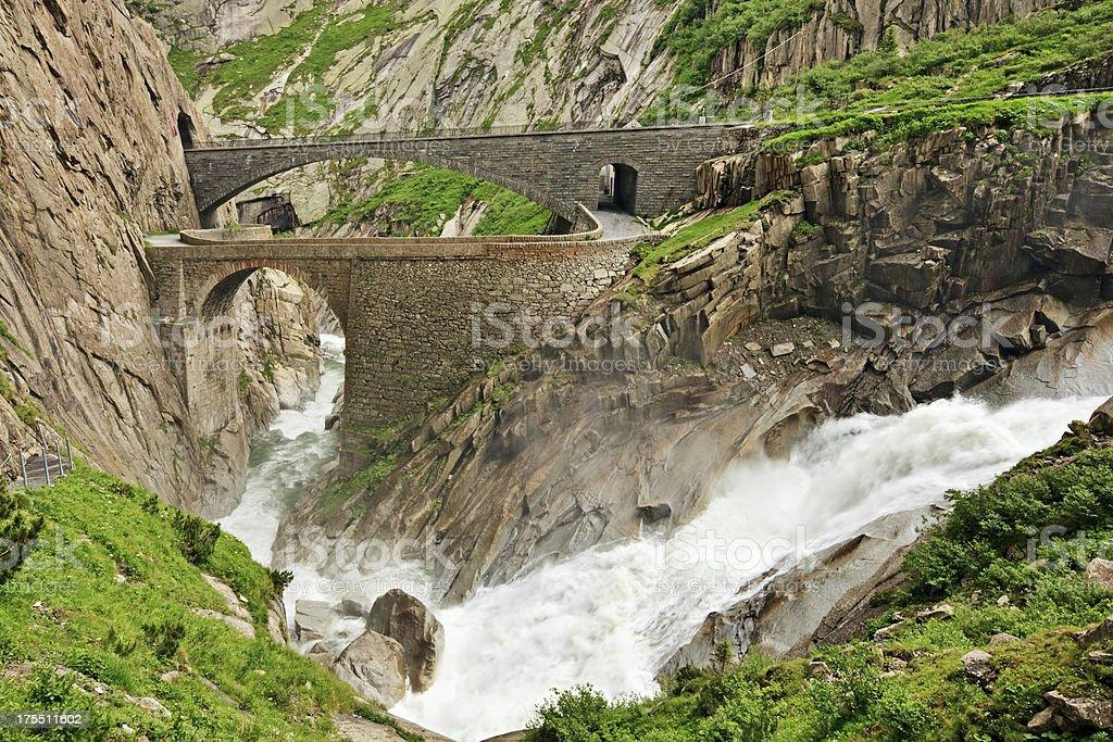 Devil's Bridge, Switzerland stock photo
