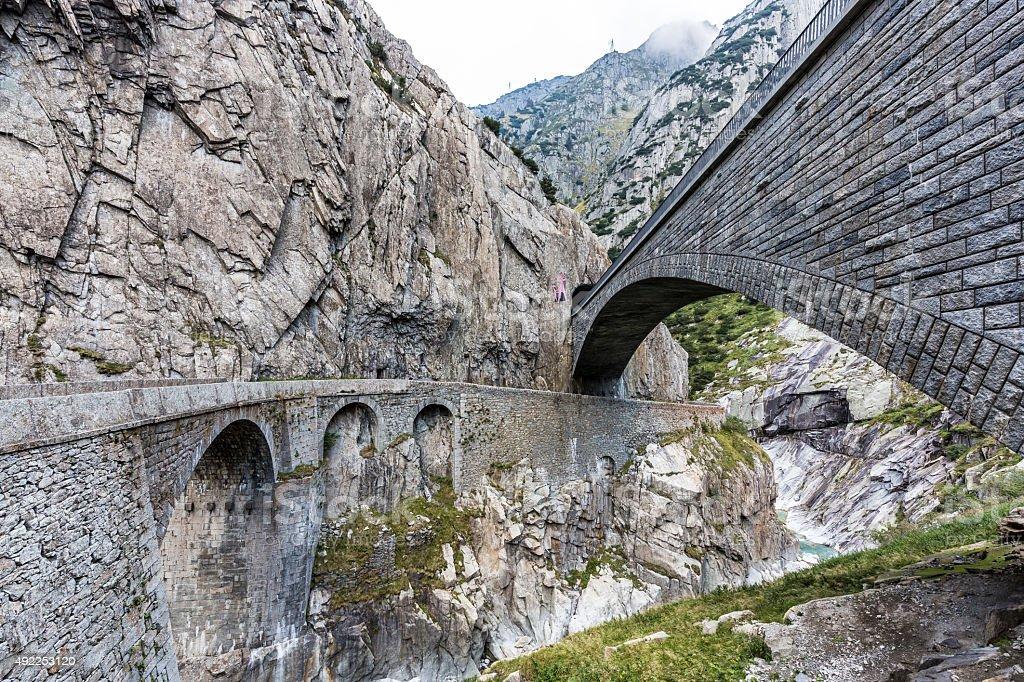 devil's canyon in Switzerland stock photo
