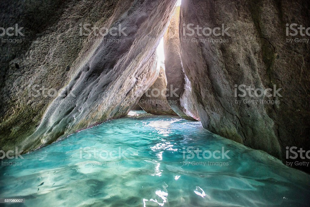 Devil's Cave at Virgin Gorda stock photo