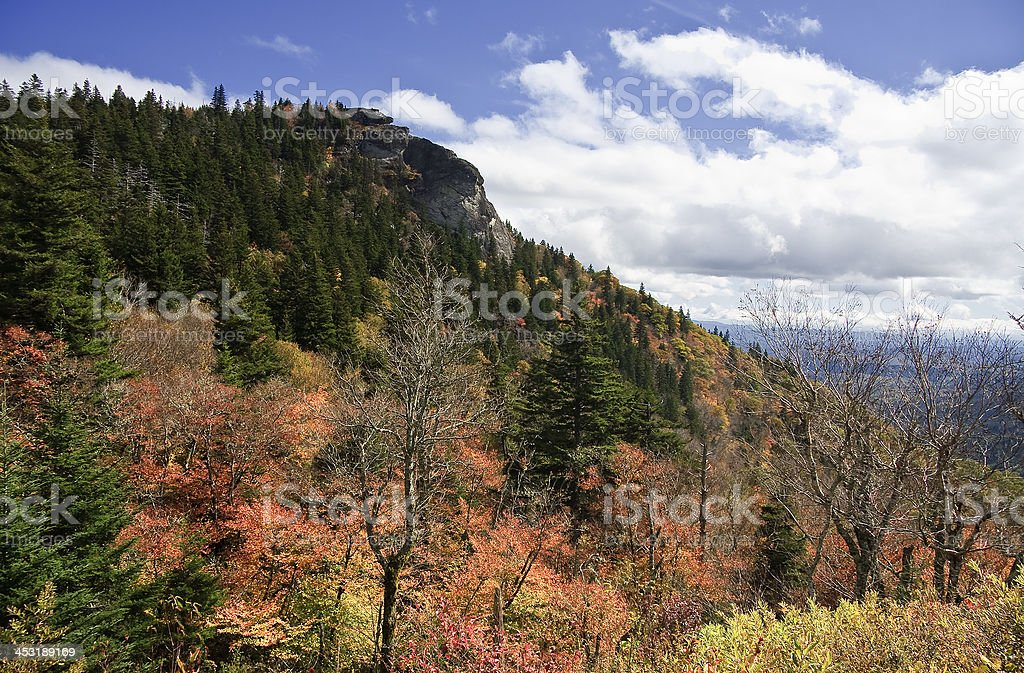 Devil's Courthouse in North Carolina royalty-free stock photo