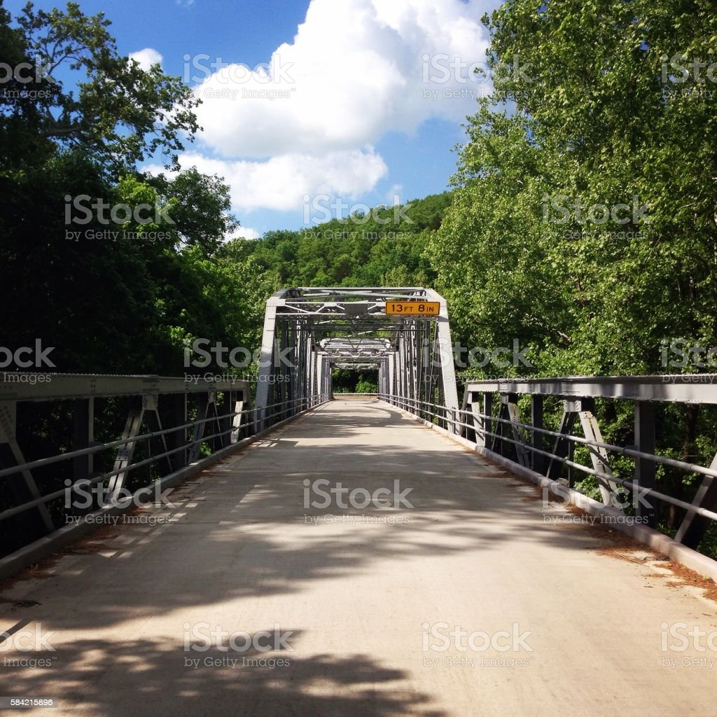 Devil's Elbow Bridge stock photo