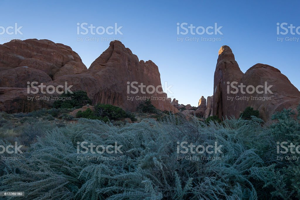 Devils Garden stock photo