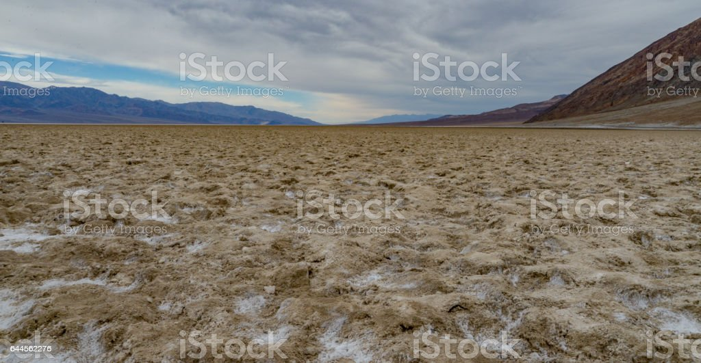 Devil's Golf Course at Death Valley stock photo