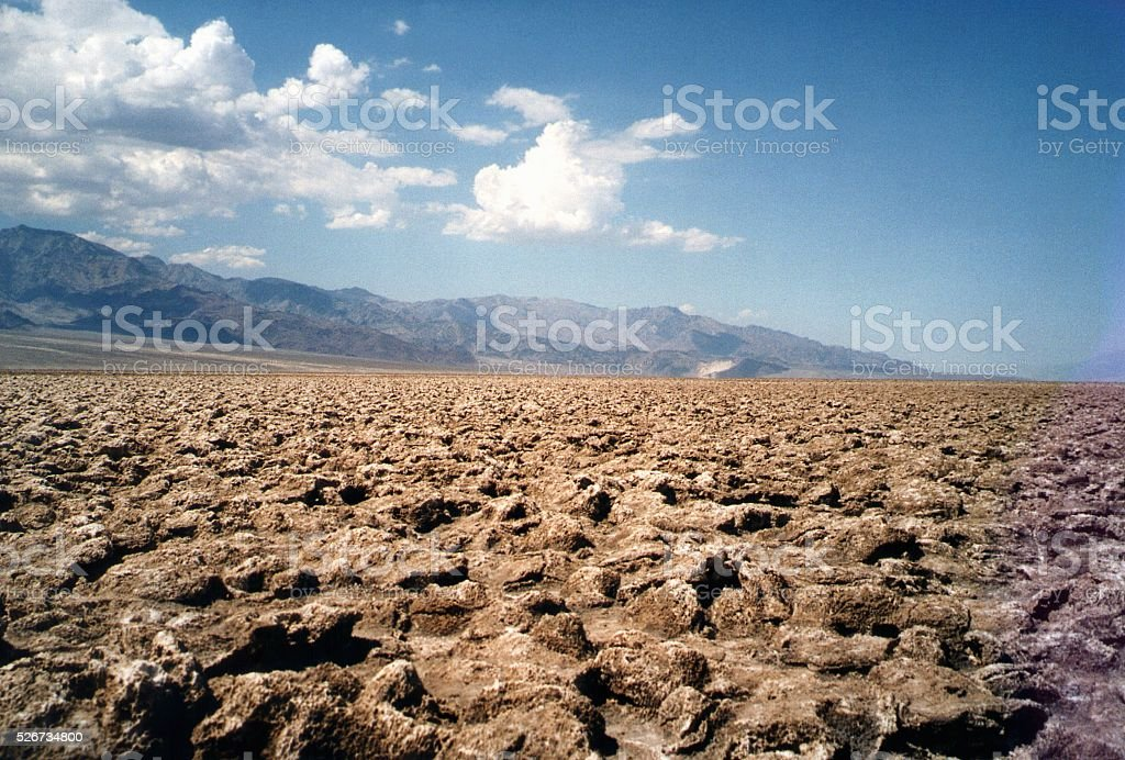 Devil's Golf Course, Death Valley National Park, California stock photo