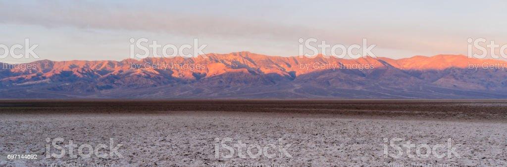 Devils Golf Course Death Valley National Park California stock photo