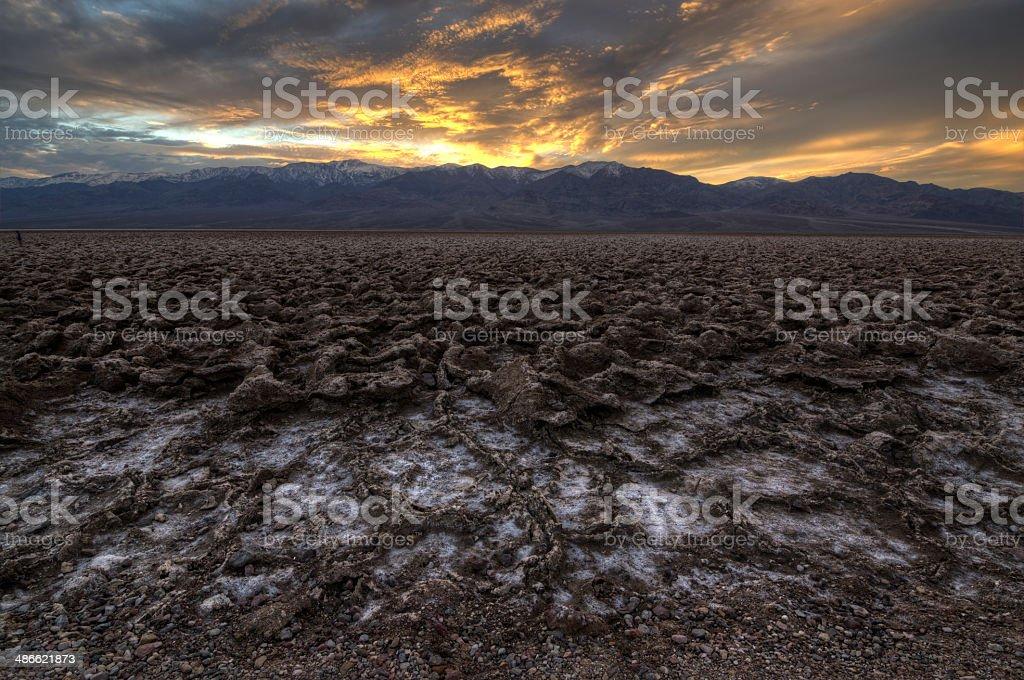 Devil's Golf Course, Death Valley National Park stock photo