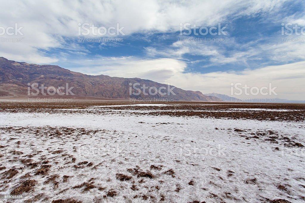 Devil's Golf Course - Death Valley National park stock photo