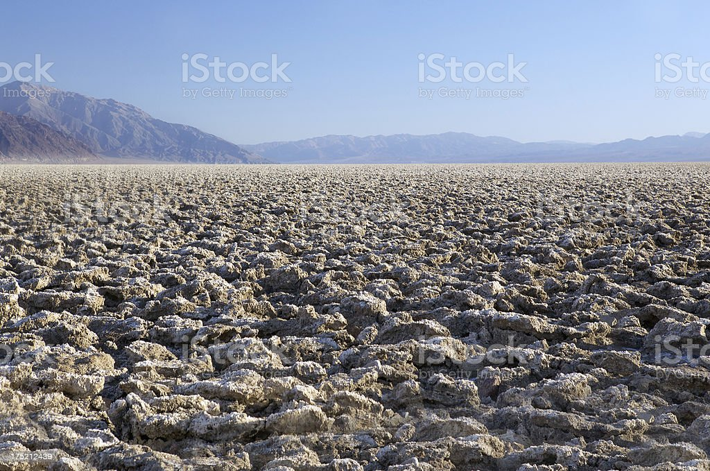 Devil's Golf Course - Death Valley NP stock photo
