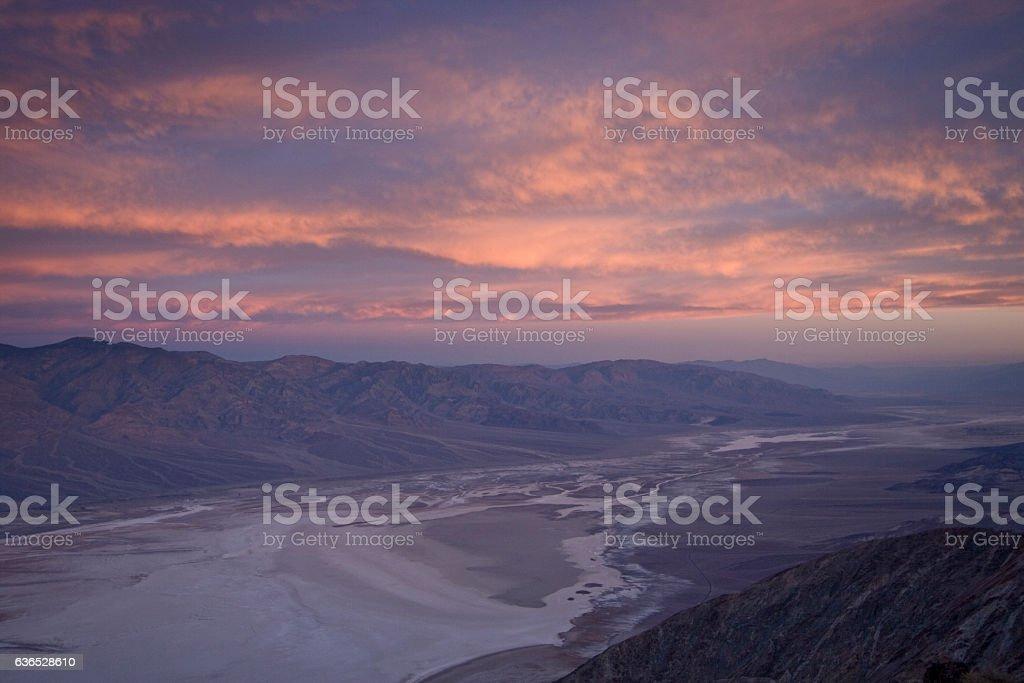 Devil's Golf Course - Death Valley stock photo