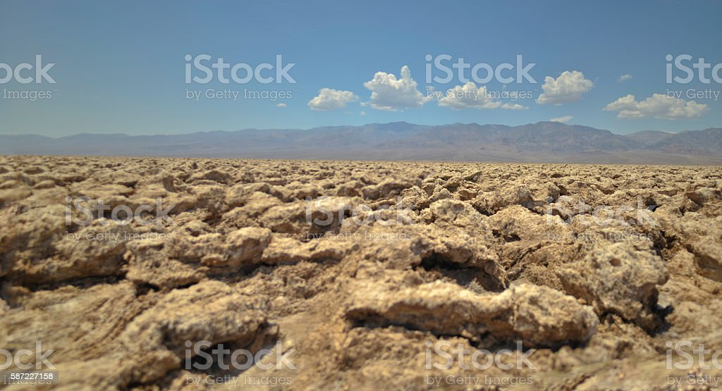 Devil's golf course in  Bad Water,near Death Valley stock photo