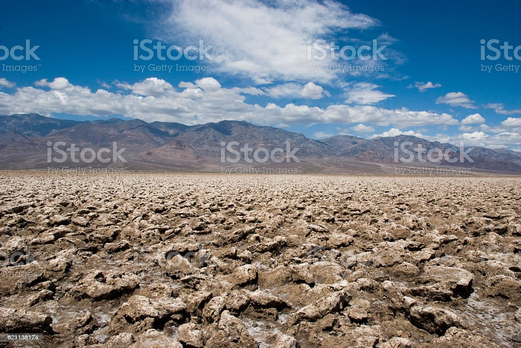 devils golf course in Death Valley, California stock photo