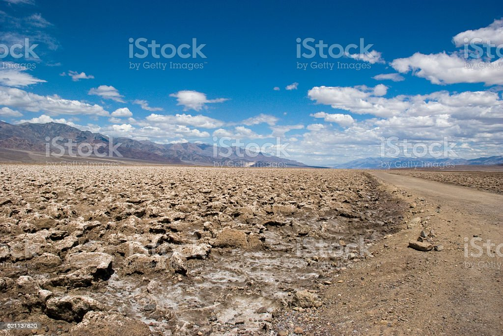 Devil's Golf Course in Death Valley National Park, California stock photo
