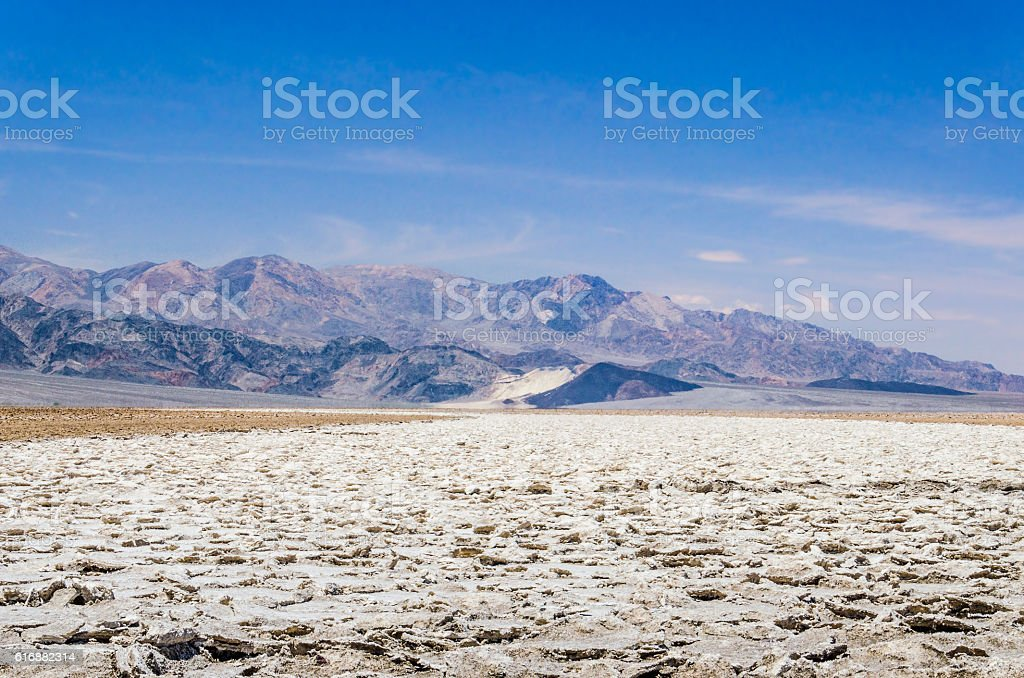 Devil's golf course in Death Valley National Park in California stock photo