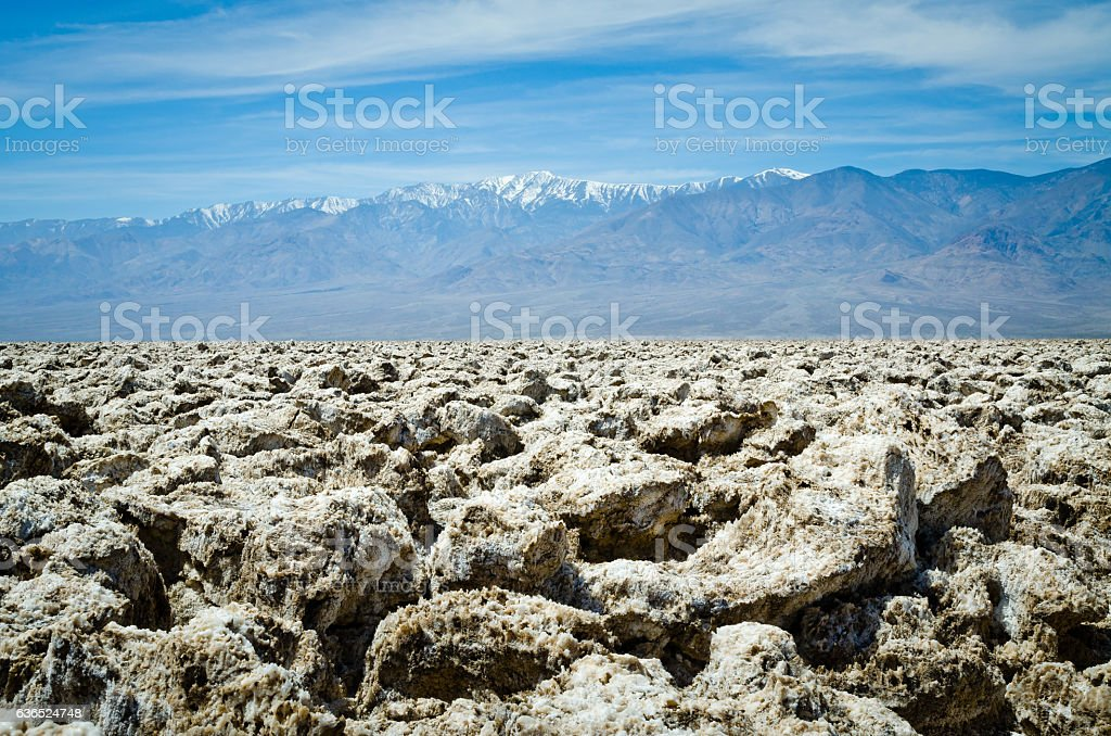 Devil's Golf Course in Death Valley stock photo