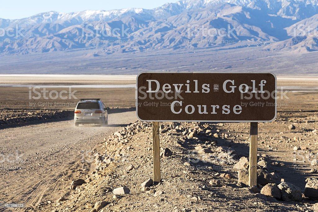 Devil's Golf Course stock photo