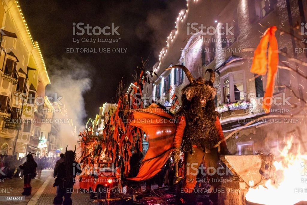 Devils in Sterzing/Vipiteno royalty-free stock photo