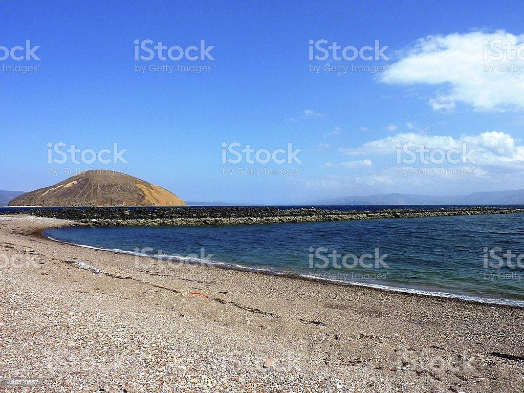 Devil's islands in the Bay of Goubet in Djibouti royalty-free stock photo