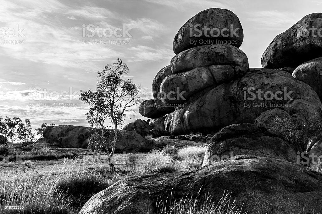 Devils Marbles, Australia stock photo