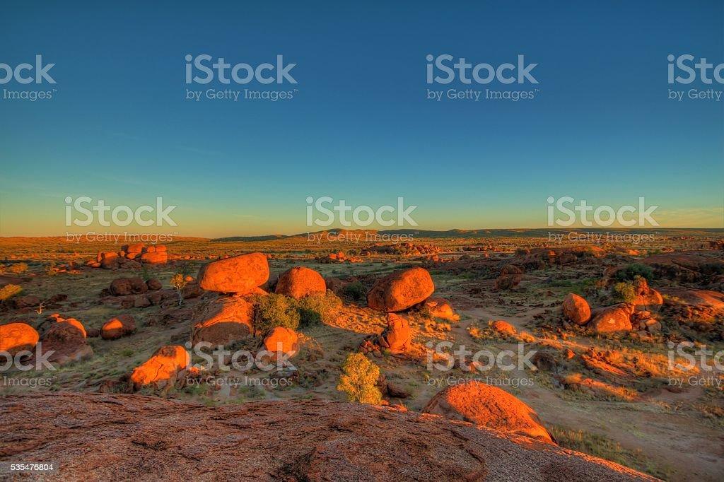 Devils Marbles, Australian outback stock photo