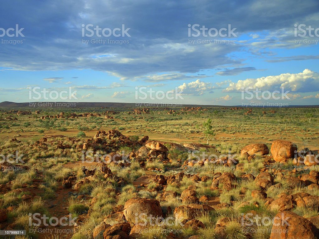 Devils Marbles, Northern Territory, Australia royalty-free stock photo