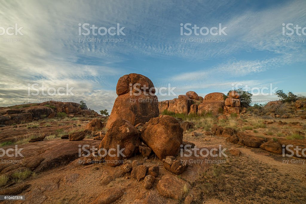 Devil's Marbles, Northern Territory, Australia stock photo