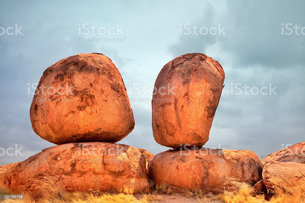 devils marbles royalty-free stock photo