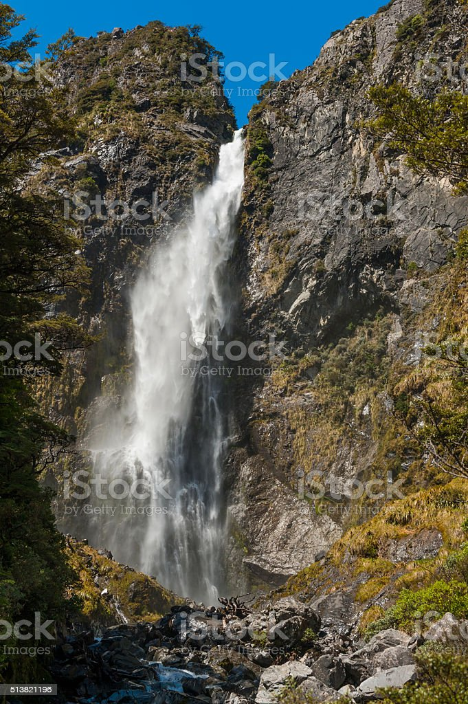 Devil's Punchbowl Falls stock photo