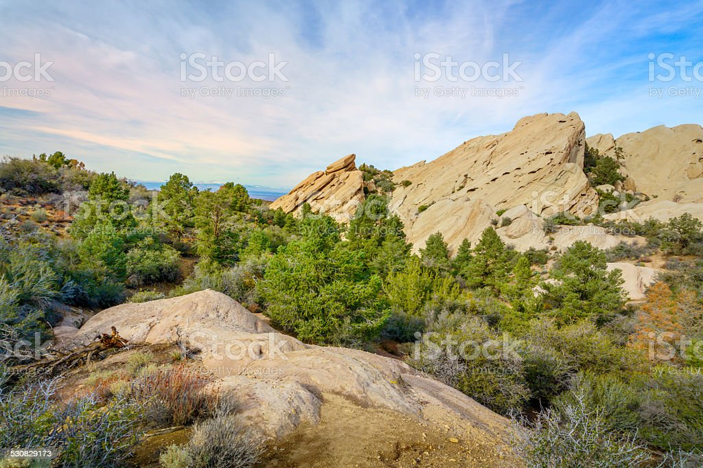 Devil's Punchbowl in Southern California stock photo